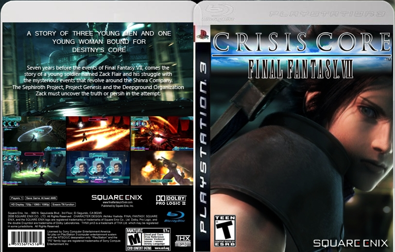 Final fantasy vii crisis core ps3 english